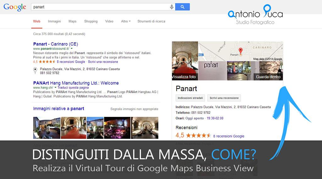 Fotografo Google - Tour Virtuale Panart Aversa